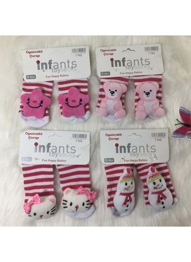 Quzucuk Kids Kız Çocuk Bebek Çorap Seti Renkli